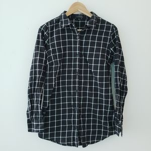 The Limited Black Grid Long Button Down Shirt